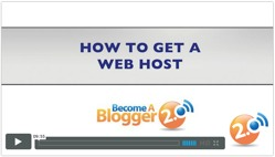 Become a Blogger - how to get hosting