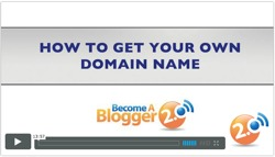 Become a Blogger - How To Get Your Own Domain Name