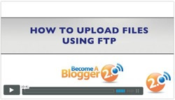 Become a Blogger - how to upload files using ftp