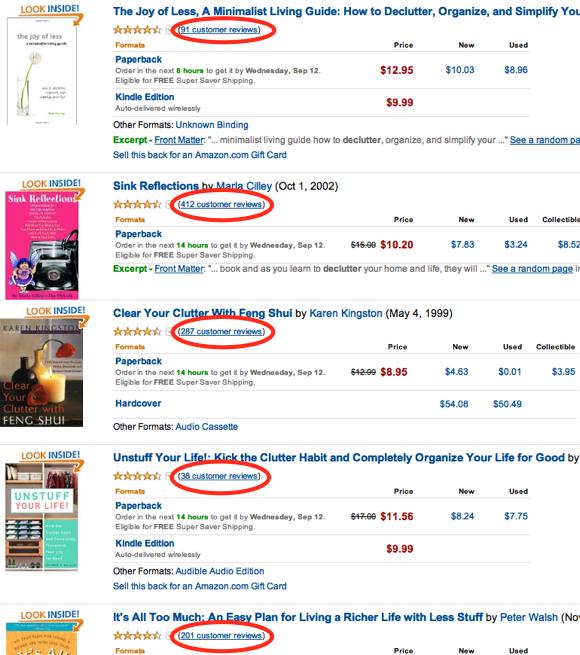 Amazon - Declutter book